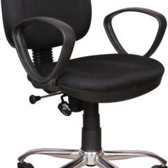 Revolving Chair Mechanism Bar Height Patio Table And Chairs Rajpura 803 Cushioned Low Back With Push In Black Fabric Office Executive