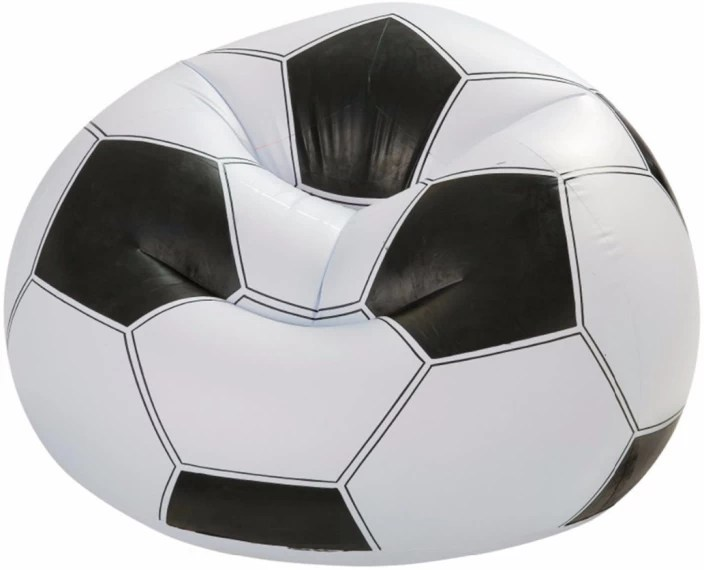 beanless sofa air chair next sofas on finance intex original inflatable giant football bag white black