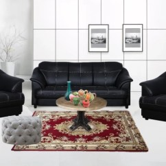 Black Leather Sofa Set Price In India Mini Corner Cloud9 Titanic Leatherette 3 1 Buy Online At Flipkart Com