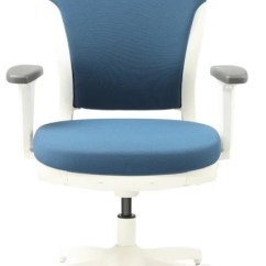Ergonomic Chair Godrej Price Curved Back Adirondack Chairs Interio Motion Polyester Office Executive In Blue