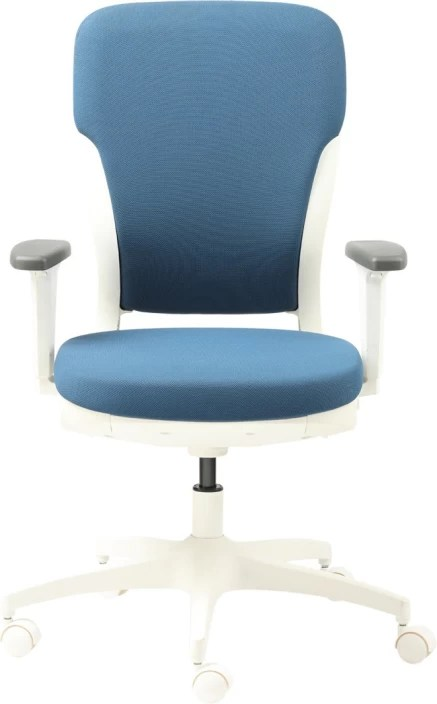 godrej chair accessories kids white table and chairs interio motion polyester office executive price in blue