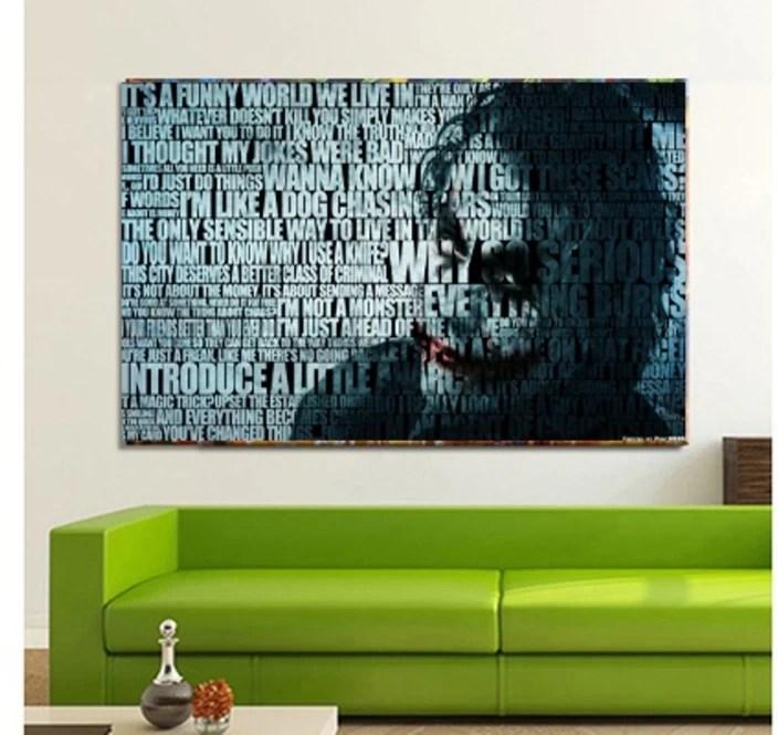 wallpaper decoration for living room hawaiian inspired decorating joker poster wall art home decor or bedroom bar canvas