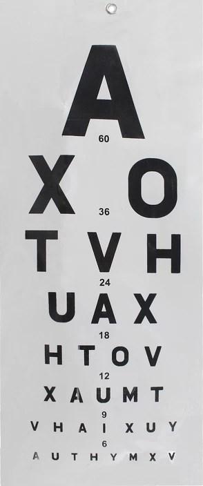 Mcp vision test chart also price in india buy rh flipkart