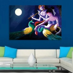 Nice Artwork Living Room French Country Designs Rooms Inephos Unframed Canvas Painting Beautiful Radha Krishna Art Wall For Bedroom