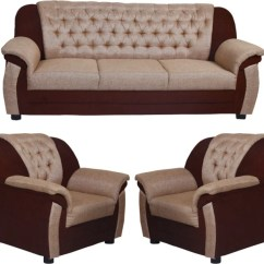 Beige Sofa Set Manhattan Bed With Bluetooth Look In Furniture Clara Multi Fabric 3 1 Price India Buy Online At