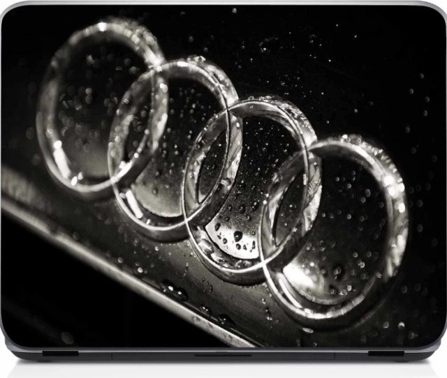 Shopnow Audi Car Logo M Vinyl Laptop Decal