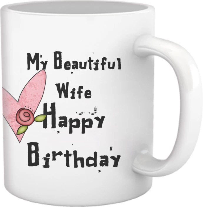 Tied Ribbons Happy Birthday Gifts For Wife Ceramic Mug