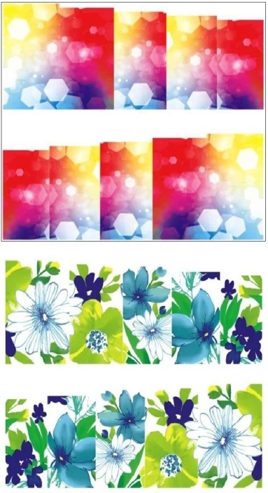 Jenna Manicure Water Transfer Nail Art Decals Stickers Sapphire Series Nr 253