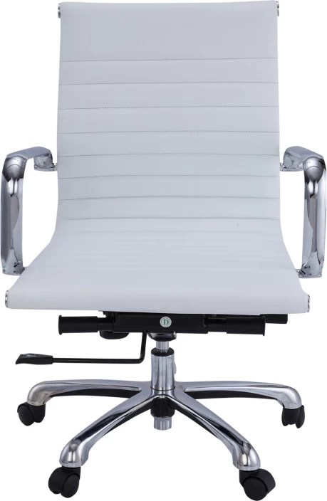 office chair online india yellow banquet covers ergoline leatherette arm price in buy white