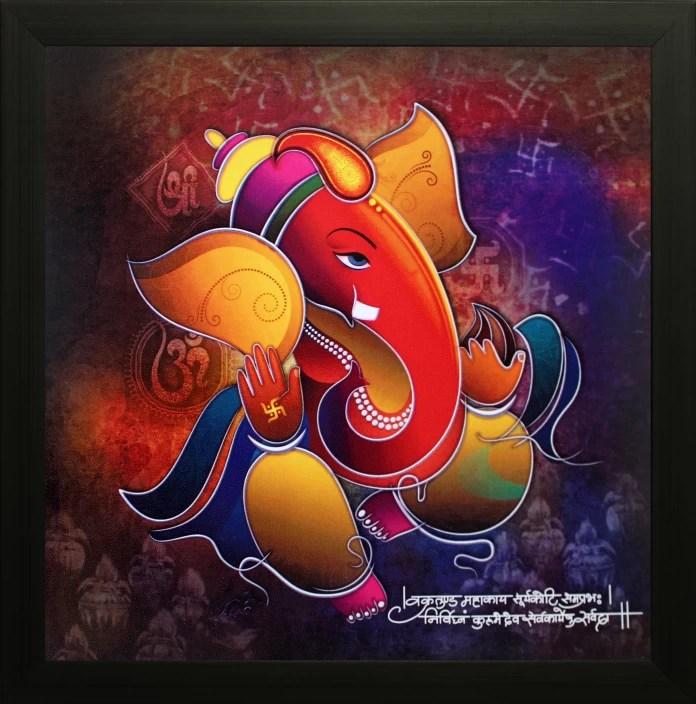 saf ganesh oil painting