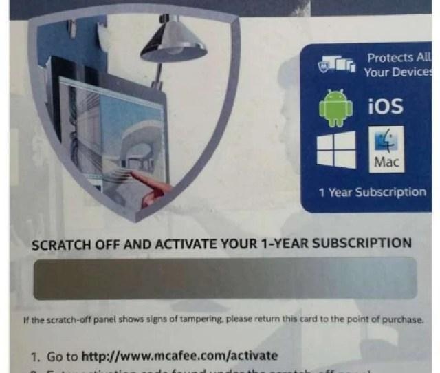 Mcafee Antivirus Plus  Year Antivirus Bkcmav1yreng Intel