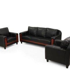 Black Leather Sofa Set Price In India Redo Cushions Royaloak Aqua Leatherette 3 1 Buy Online At Flipkart Com