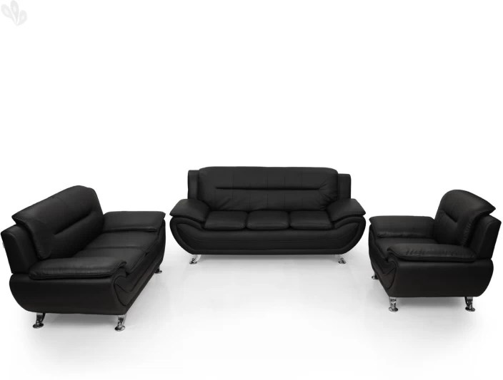 black leather sofa set price in india futons and beds royaloak leatherette 3 2 1 buy online at flipkart com