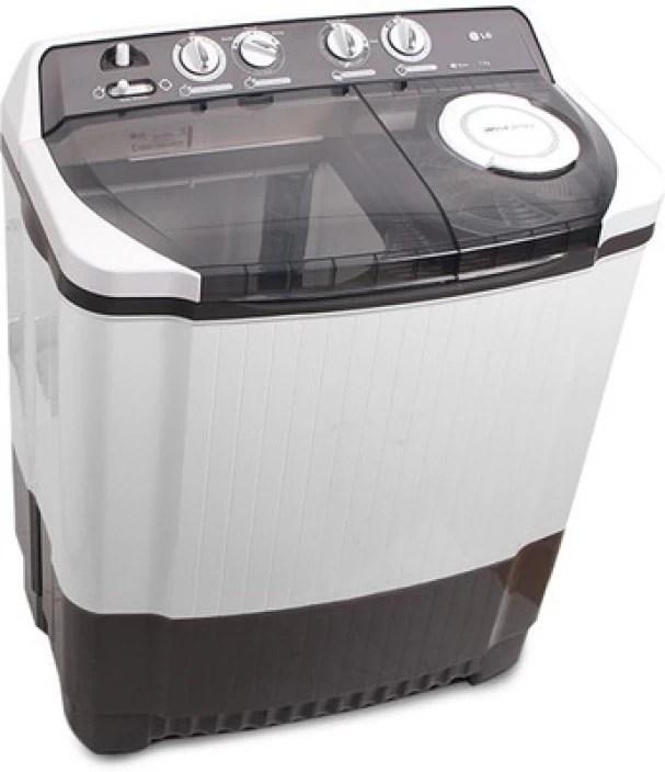 LG 75 kg Semi Automatic Top Load Washing Machine Grey