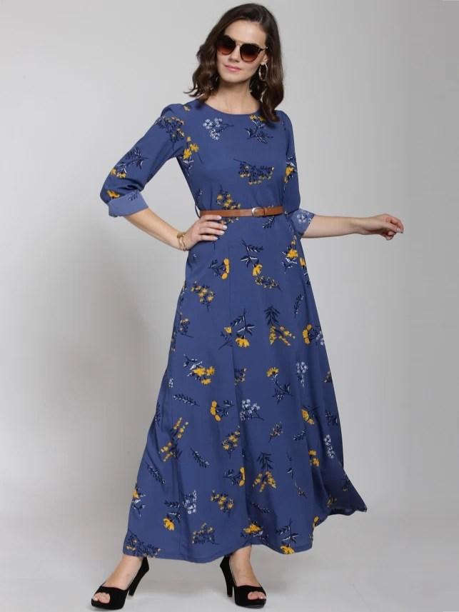 pluss women maxi blue