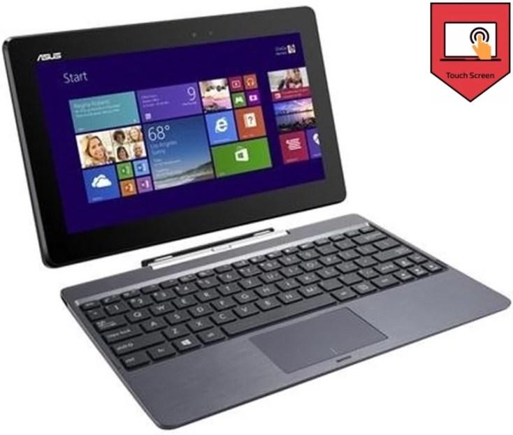 Asus Transformer Series Atom - (2 GB/500 GB HDD/32 GB SSD/Windows 8 Pro) T100TA-DK005H T100T 2 in 1 Laptop(10.26 inch, Grey, 1.07 kg)