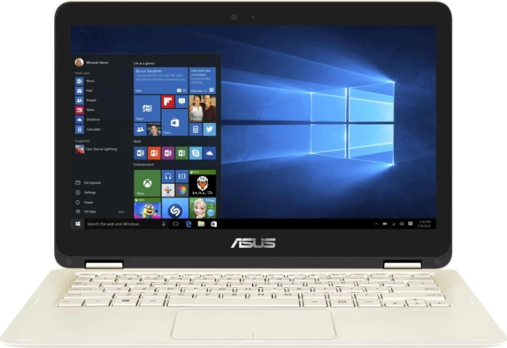 Asus ZenBook Core m3 6th Gen - (4 GB/512 GB SSD/Windows 10 Home) UX360CA-C4089T Thin and Light Laptop(13.3 inch, Gold, 1.30 kg)