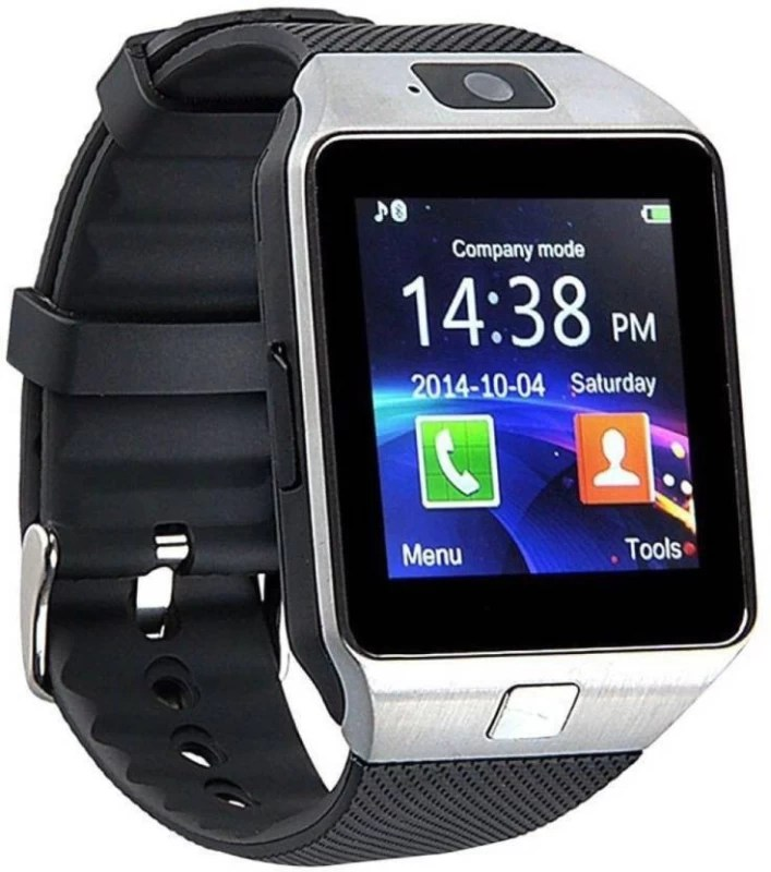 JANGO DZ09 Sim Card Supported Smartwatch(Black Strap Regular)