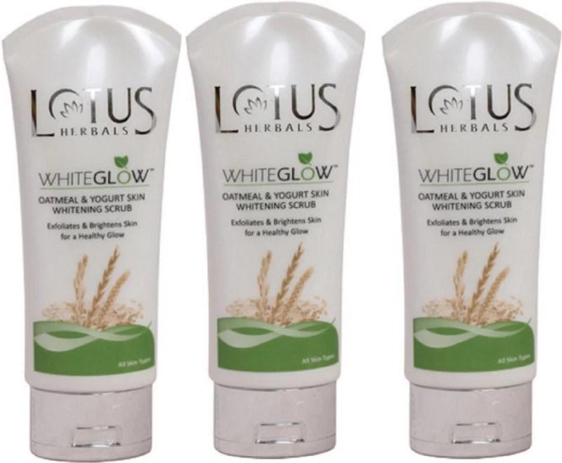 Lotus Herbals WhiteGlow Oatmeal and Yogurt Skin Whitening Scrub(300 g)