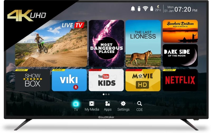 CloudWalker 165cm (65 inch) Ultra HD (4K) LED Smart TV(65SU)