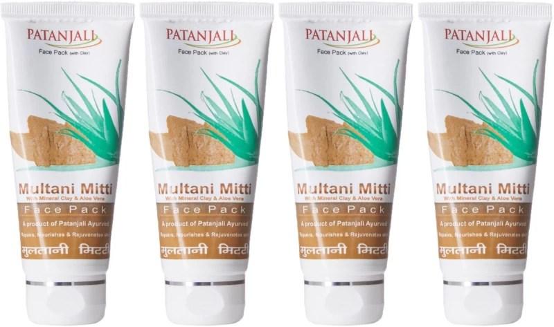 Patanjali Aloevera Multani Mitti (Pack of 4)(60 ml)