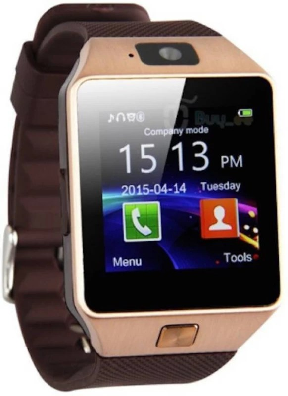Padraig oppo 4G Compatible Bluetooth DZ09 Wrist Watch Phone with Camera & SIM Card Support Smartwatch(Brown Strap free)