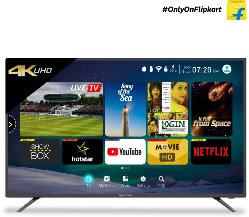 CloudWalker 127cm (50 inch) Ultra HD (4K) LED Smart TV(Cloud TV 50SU)