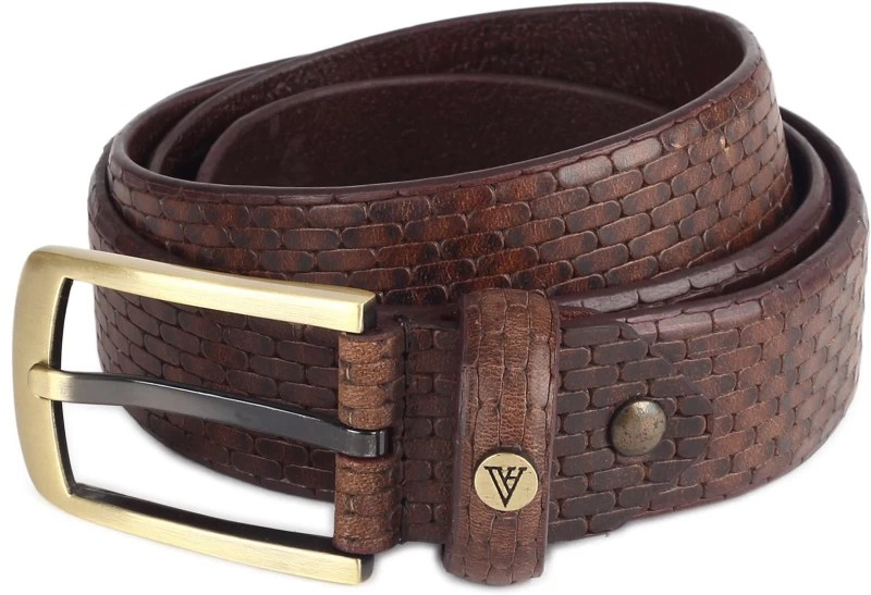 Van Heusen Men Formal Brown Genuine Leather Belt
