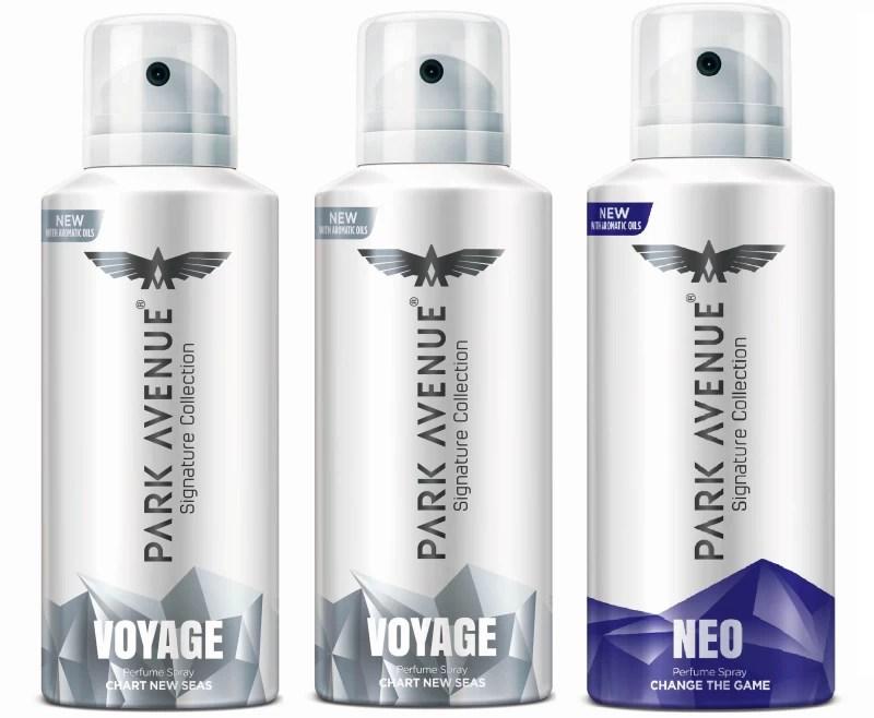 Park Avenue Signature - Voyage, Neo Deodorant Spray - For Men(420 ml, Pack of 3)