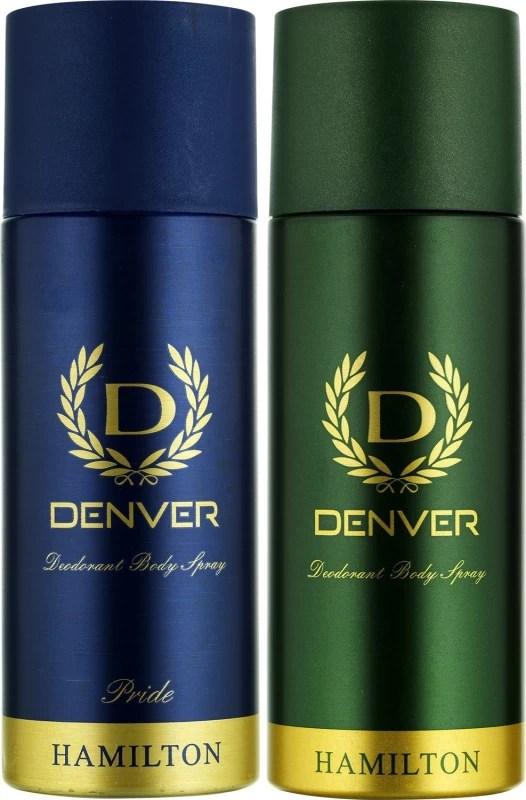 Denver Hamilton and Pride Combo Deodorant Spray - For Men(330 ml, Pack of 2)