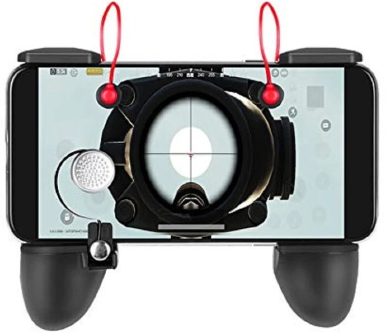 RPM Euro Games PUBG Controller Mobile Game Trigger for Android, Apple.. L1R1 Fire and Aim Button. PUBG Trigger Shooter Joystick Gamepad That Works On Android and IOS Phones USB Gamepad(Black, For Android, iOS)