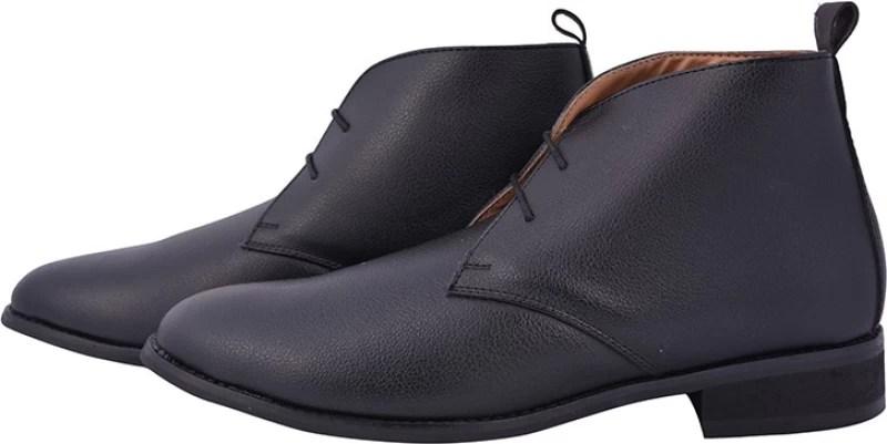 Elitous Boots For men High Tops For Men(Black)