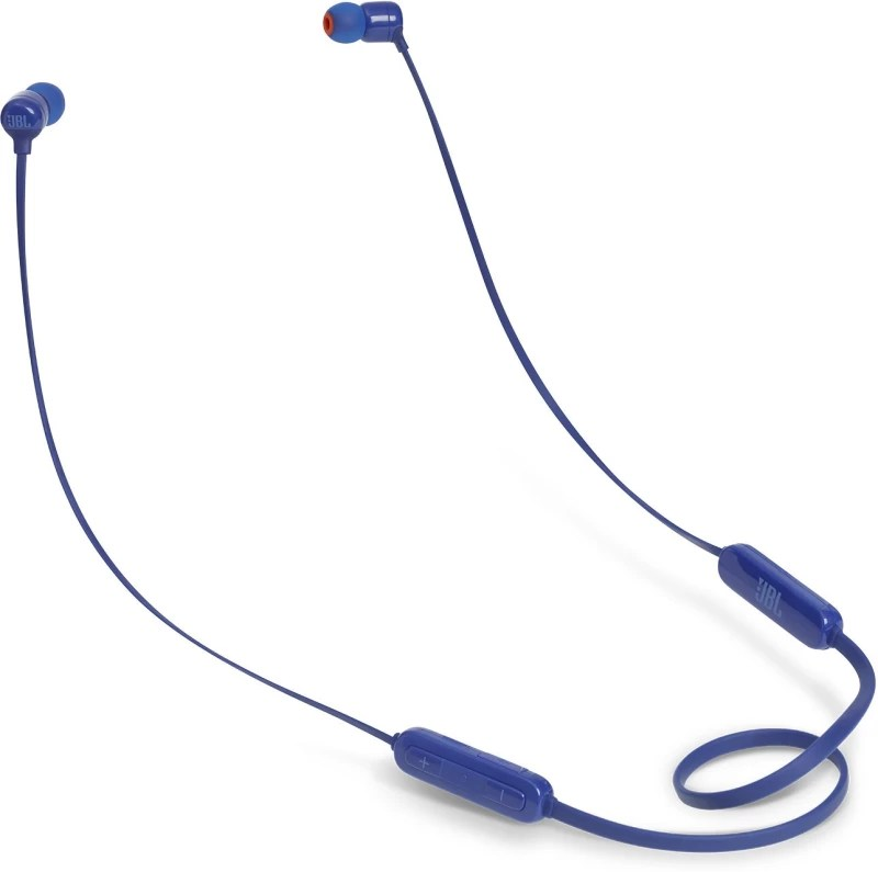 JBL T160BT Bluetooth Headset with Mic(Blue, In the Ear)