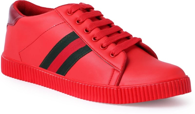 Shoe Mate Red Casual Shoes Sneakers For Men(Red)
