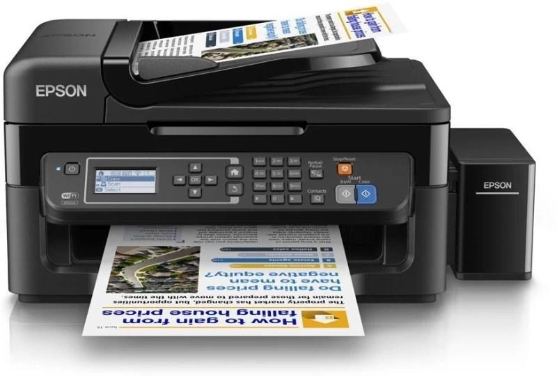 Epson L565 Multi-function Wireless Printer(Black, Refillable Ink Tank)