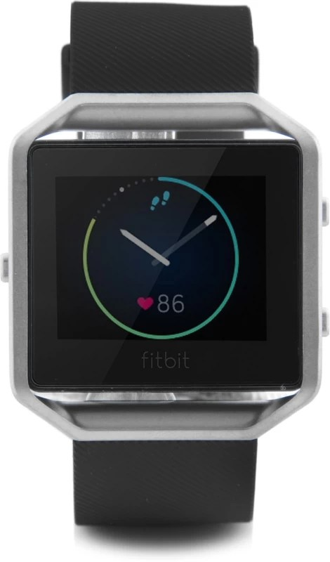 Fitbit Blaze Black Silver Smartwatch(Black Strap Small)
