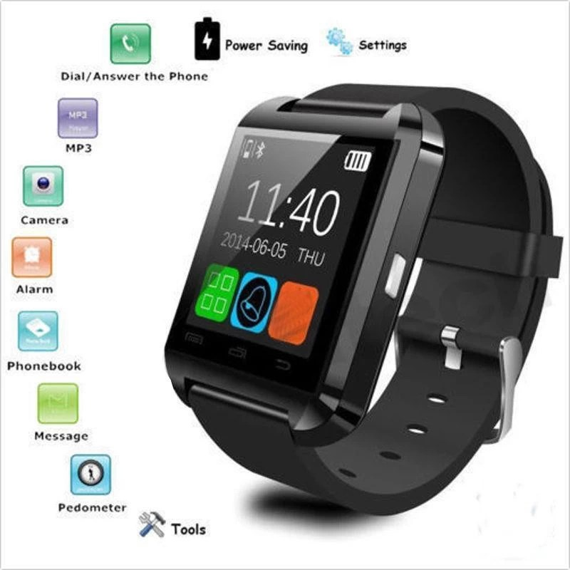 99 Gems Bluetooth watchinternational Smartwatch(Black Strap Regular)