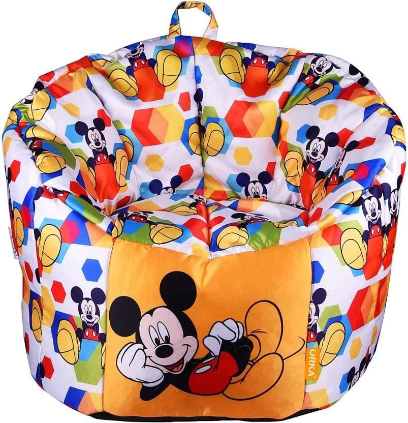 bean bag sofas india natuzzi editions leather dual reclining sofa a319 orka xl micky mouse digital printed kids with filling multicolor