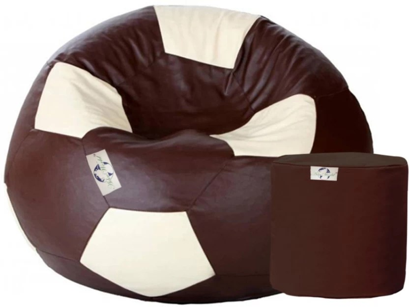 football bean bag chair swivel patio chairs adevworld xxxl with filling price in multicolor