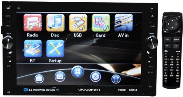 Woodman Double Din With DVD, Bluetooth & USB Car Stereo (Double Din)