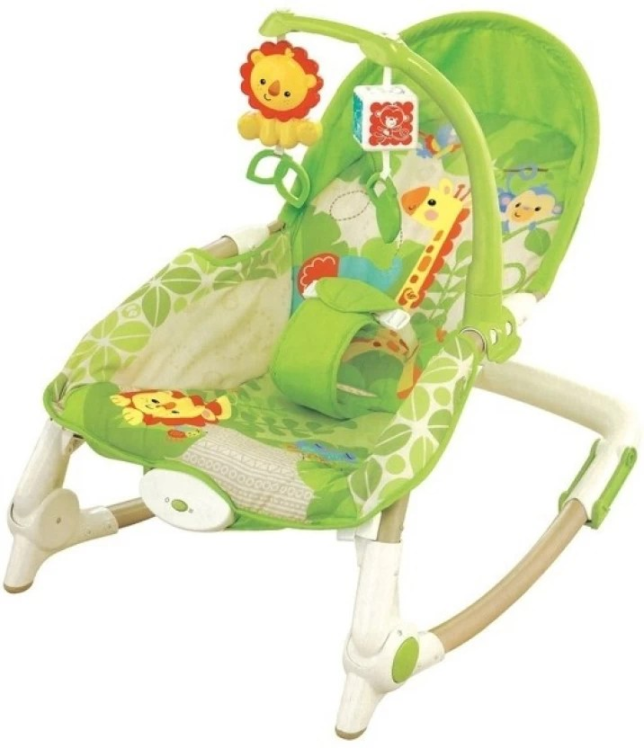 baby rocker chair outdoor with ottoman just toys newborn to toddler portable multifunctional rocking appease vibrating green