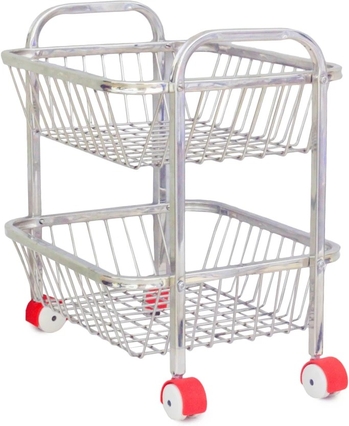 stainless steel kitchen cart cabinets chicago maharaja small 2tier trolley price in india buy online at flipkart com