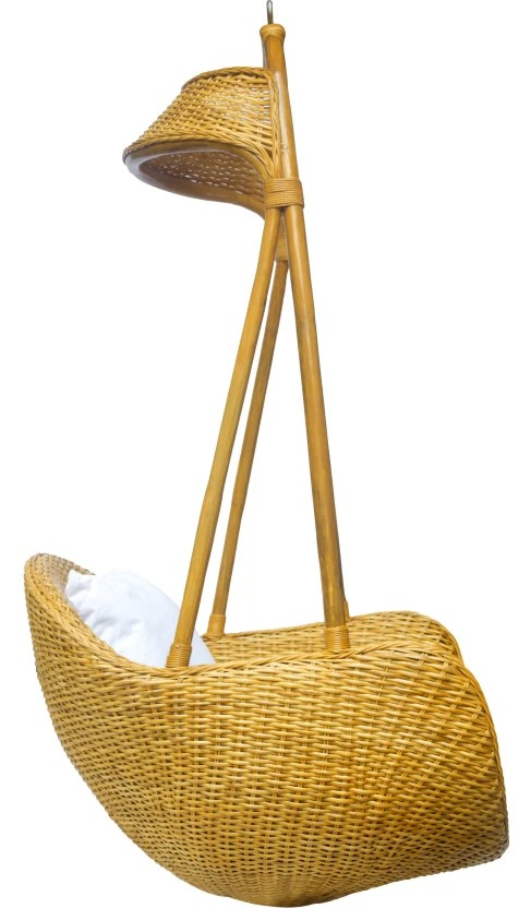 hanging chair flipkart cooler pouch beach amour bamboo swing price in india buy online at beige