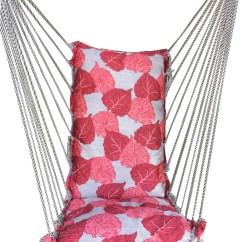 Hanging Chair Flipkart Sashes For Wedding Covers Kaushalendra Hammock Cotton Nylon Price In India Red Yellow