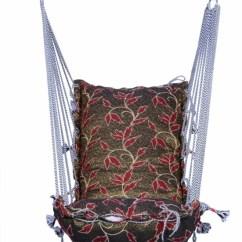 Hanging Chair Flipkart Mount Keyboard Tray Kkriya Home Decor Washable Cotton Hammock Price In Black