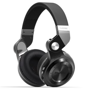 Bluedio T2 Plus Bluetooth Headphone - Black Wireless Headset with Mic