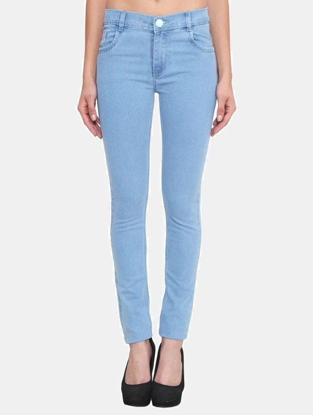Crease  Clips Slim Womens Light Blue Jeans  Buy Crease