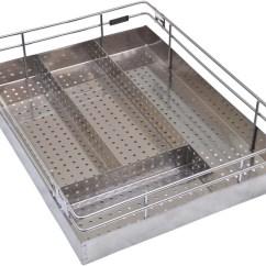 Kitchen Basket Kohler Faucet Alex Perforated Sheet Cutlery 16 X 20 4 Inches Storage