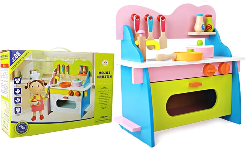 solid wood kitchen sets shelving unit jack royal wooden color set buy toys in india shop for products