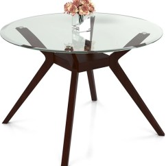 Glass Top Kitchen Table Vintage Islands Urban Ladder Wesley Round 4 Seater Dining